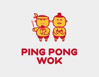 Фирменный стиль ресторанов «Ping Pong Wok»
