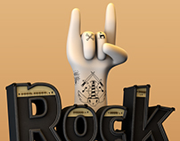 Rock & Roll // 3d typography