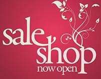 "Mural Poster ""Sale Shop"" for Fashion Shop"