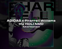 Adidas x Pharrell Williams HU HOLI NMD advertisement