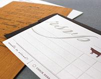 Basswood / Letterpress Wedding Invitation Suite
