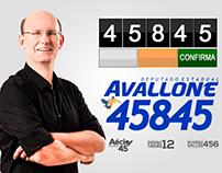 Carlos Avallone - Deputado E. (2014) - Foto e design