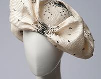 straw embellished hat