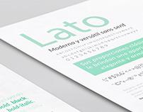 Espécimen tipográfico | Tipografía UNRN