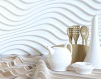 3D wizualizacja - tkanina i glazura