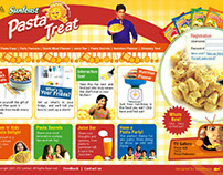 Website Design for Sunfeast Pasta Treat