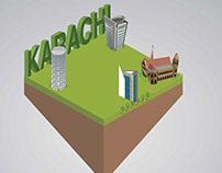 (isometric) Illustration in progress.. Karachi