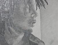 Fine Art | Bob Marley Graphite Drawing