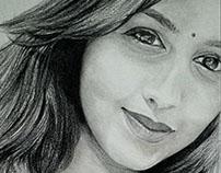 A Beautiful Girl - Pencil Sketch by Artist Kamal Nishad