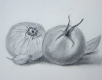 Pencil Drawing - Vegetables