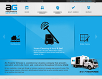 AG Property Services website re-design