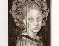 """Pagan Poetry"" Artwork on Skateboard"