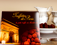 """Truffettes de Paris"" package design"