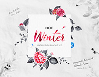 Hot Winter - Watercolor Graphic Set