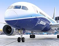 Boeing 787 Dreamliner CGI