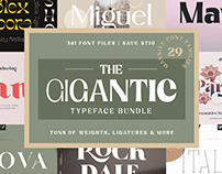 The Gigantic Typeface Bundle - Over $700 Off