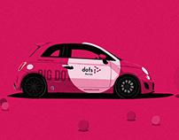 Dots Recruit Car Branding Imagined