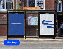Bus Stop Posters 01 | Signage Mockup Template