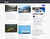 Blog Masonry Grid Page - Zenith WordPress Theme