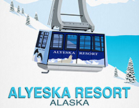 Alyeska Ski Resort Poster