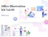 Office Illustration Kit Vol.01