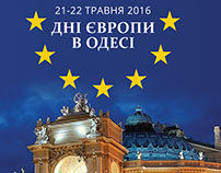 Сitylights design for Europe Day in Odessa