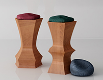 Bar Stool with changeable pillow-seats