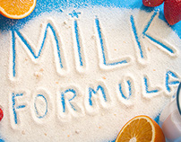 The design of the packaging milk formula