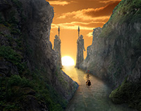 Fantasy Canyon Matte Painting