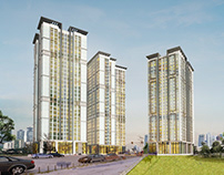Phối cảnh chung cư Panorama Hoàng Văn Thụ