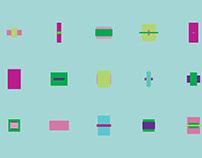 Generative art   Overlaying squares