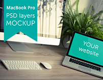 FREE Apple MacBook Pro Mockup | PSD layers
