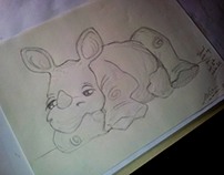 Sweet Baby Rhino (step by step)