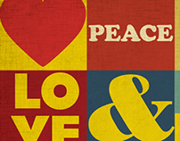 Peace & Love Poster