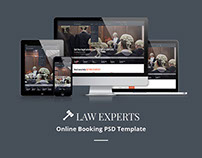 Law Experts - Online Booking PSD Template