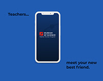 Museum of Science Teacher Partner Program App