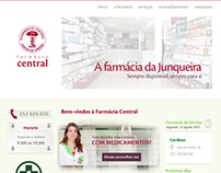 Website - Farmácia Central (Póvoa de Varzim)