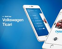 Volkswagen Ticari, Mobile App, Landing Pages
