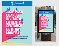 Bancos para compartir. Ayuntamiento de Madrid