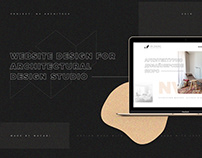 NV ARCHITECTS - website design for interior studio