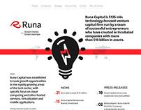 Runa Capital landing concept | Web
