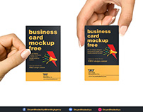 Free PSD - Vertical Business Card Download