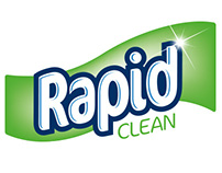 Rapid Clean: cleaning clothes logo & packaging