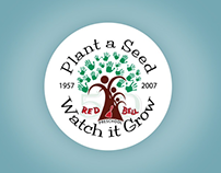 Red Bell Preschool 50th Anniversary Logo