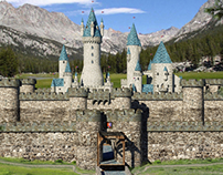 3-D Castles created for The Hero Sagas books