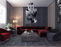 Artistic Modern Living Room