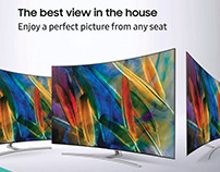 Samsung QLED TV POS advertising
