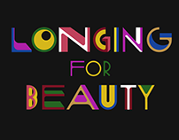 """Longing for beauty"" custom lettering"