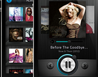 iPhone Music Player App Concept
