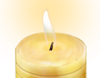 candle animation